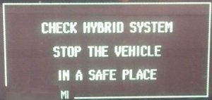 Prius Check Hybrid System Stop The Vehicle In A Safe Place